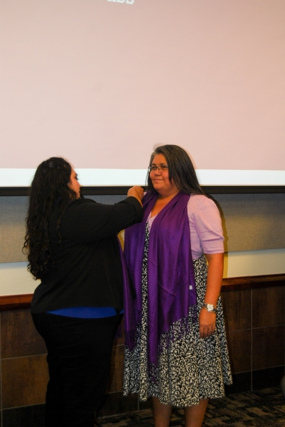 Members getting pinned by Chapter President